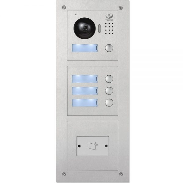 Фото 1 - Дополнительный модуль True IP TI-2308M/3 с 3 кнопками для вызывной панели  TI-2308M/M.