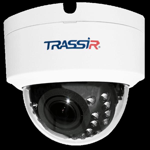 Фото 1 - Trassir TR-D3123WDIR2 + ПО TRASSIR в подарок: купольная IP-камера с ИК-подсветкой и вариообъективом.