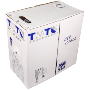 Фото 18 - Кабель UTP TWT-5EUTP-OUT-TR неэкранированная витая пара с тросом для внешней прокладки.
