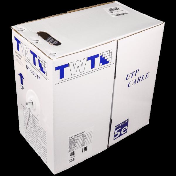 Фото 1 - Кабель UTP TWT-5EUTP-OUT-TR неэкранированная витая пара с тросом для внешней прокладки.