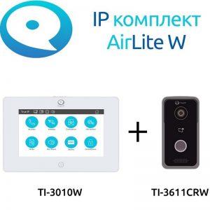 Фото 2 - Готовый комплект IP домофонии True IP Wi-Fi AirLite W: вызывная панель с камерой + монитор.