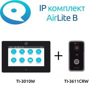 Фото 3 - Комплект IP домофонии True IP Wi-Fi AirLite B: вызывная панель с камерой + монитор.