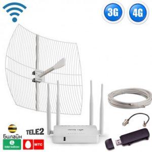 Фото 1 - Готовый комплект для подключения интернета Дальний загород 3G, 4G LTE для дома и дачи.