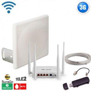 Фото 3 - Готовый комплект для подключения интернета Оптимальный загород 3G, для дома и дачи.