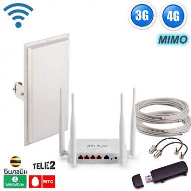 Фото 1 - Готовый комплект для подключения интернета Оптимальный загород 3G, 4G LTE для дома и дачи.
