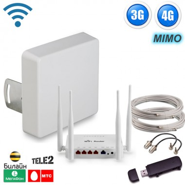 Фото 10 - Готовый комплект для подключения интернета Стандартный пригород 3G, 4G LTE для дома и дачи.