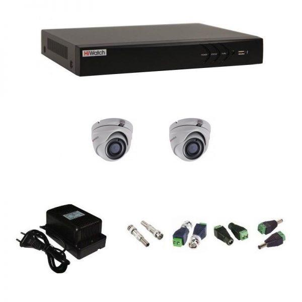 Фото 1 - Комплект 2-1 3Мп HiWatch видеонаблюдения на 2 камеры.
