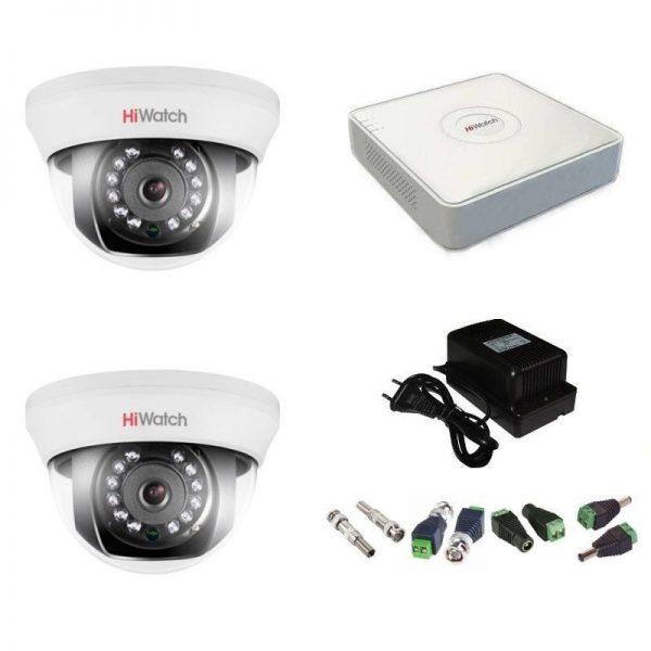 Фото 1 - Комплект 2-1 Full HD HiWatch видеонаблюдения на 2 камеры.