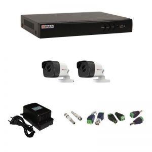 Фото 5 - Комплект 2-2 3Мп HiWatch видеонаблюдения на 2 камеры.