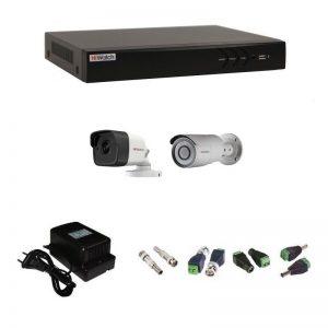 Фото 7 - Комплект 2-2-5 3Мп HiWatch видеонаблюдения на 2 камеры.