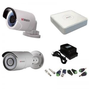 Фото 8 - Комплект 2-2-5 Full HD HiWatch видеонаблюдения на 2 камеры.