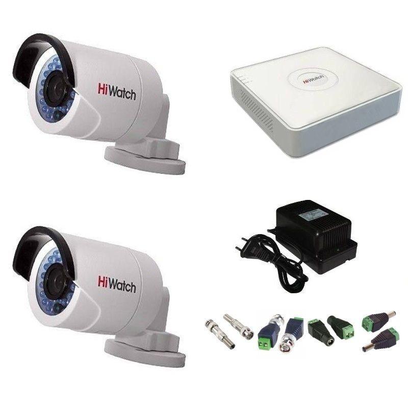 Фото 6 - Комплект 2-2 Full HD HiWatch видеонаблюдения на 2 камеры.