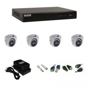 Фото 9 - Комплект 4-1 3Мп HiWatch видеонаблюдения на 4 камеры.