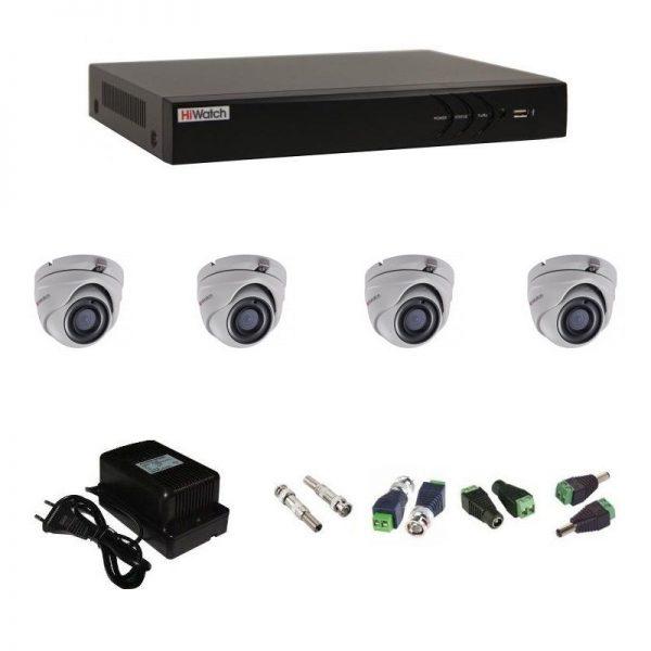 Фото 1 - Комплект 4-1 3Мп HiWatch видеонаблюдения на 4 камеры.