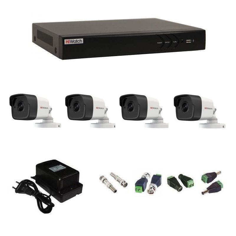 Фото 13 - Комплект 4-2 3Мп HiWatch видеонаблюдения на 4 камеры.
