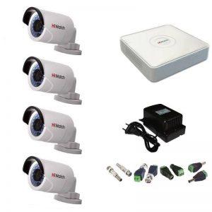 Фото 14 - Комплект 4-2 Full HD HiWatch видеонаблюдения на 4 камеры.