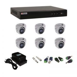 Фото 17 - Комплект 6-1 3Мп HiWatch видеонаблюдения на 6 камер.