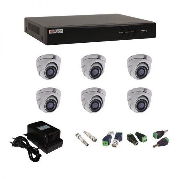 Фото 1 - Комплект 6-1 3Мп HiWatch видеонаблюдения на 6 камер.