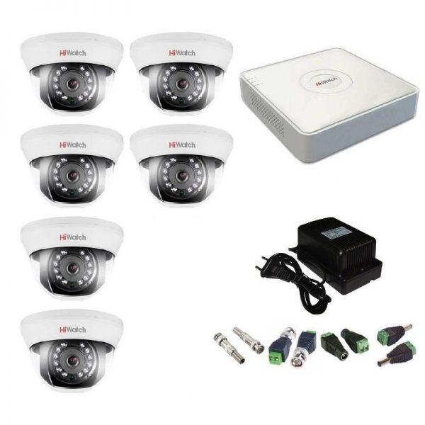 Фото 1 - Комплект 6-1 Full HD HiWatch видеонаблюдения на 6 камер.