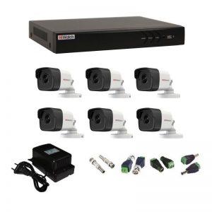 Фото 21 - Комплект 6-2 3Мп HiWatch видеонаблюдения на 6 камер.