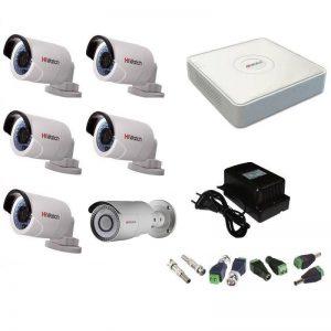 Фото 30 - Комплект 6-2-5 Full HD HiWatch видеонаблюдения на 6 камер.