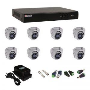 Фото 12 - Комплект 8-1 3Мп HiWatch видеонаблюдения на 8 камер.