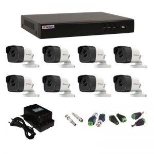 Фото 29 - Комплект 8-2 3Мп HiWatch видеонаблюдения на 8 камер.