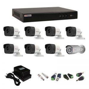 Фото 31 - Комплект 8-2-5 3Мп HiWatch видеонаблюдения на 8 камер.