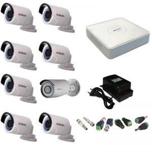 Фото 18 - Комплект 8-2-5 Full HD HiWatch видеонаблюдения на 8 камер.