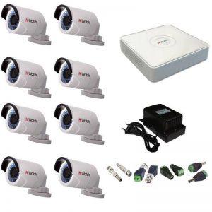 Фото 28 - Комплект 8-2 Full HD HiWatch видеонаблюдения на 8 камер.