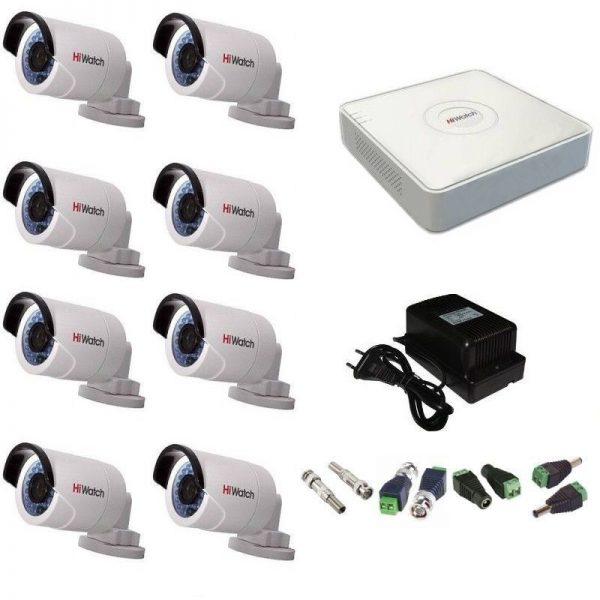 Фото 1 - Комплект 8-2 Full HD HiWatch видеонаблюдения на 8 камер.