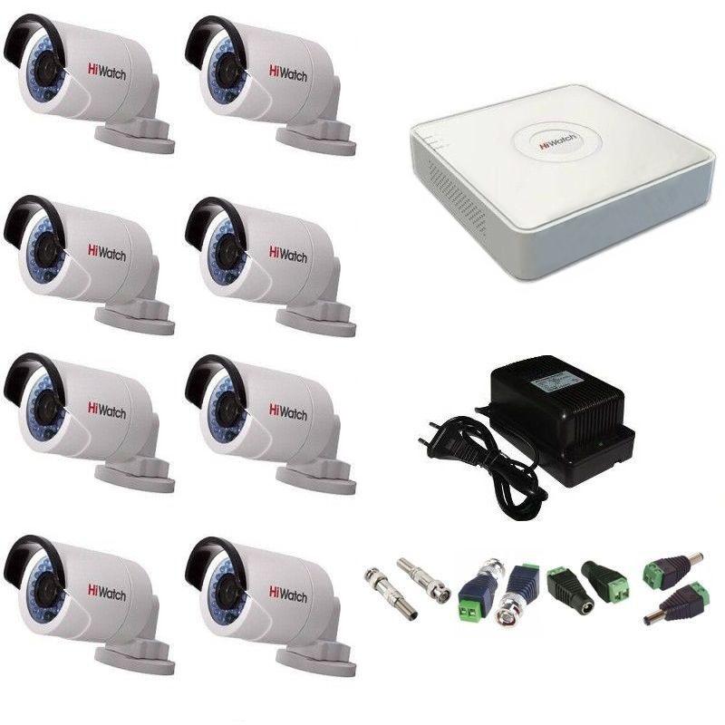 Фото 30 - Комплект 8-2 Full HD HiWatch видеонаблюдения на 8 камер.